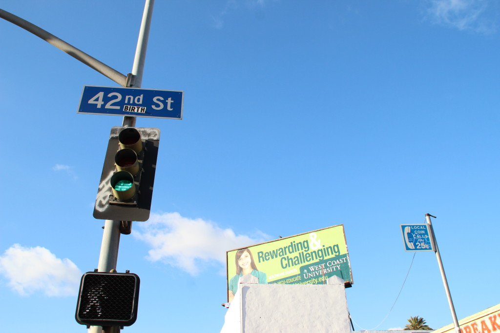 Blue skies on 42nd and Vermont.