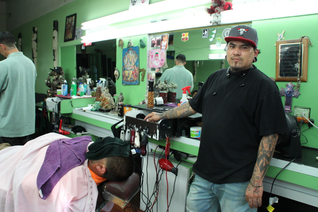 Greiner's is the owner of a men's barber shop on Vermont.